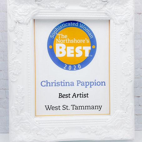 This Weekend Christina is celebrating being Named 2020 Northshore's Best Artist