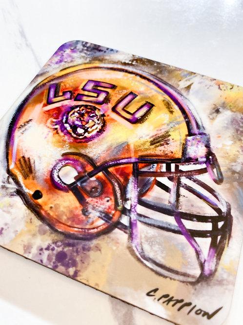 LSU Helmet Coaster