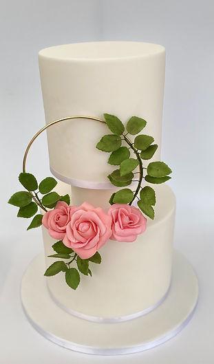 elegant modern wedding cake floral