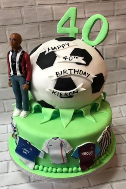 Kieron Dyer ITFC 40th Birthday Cake 2019