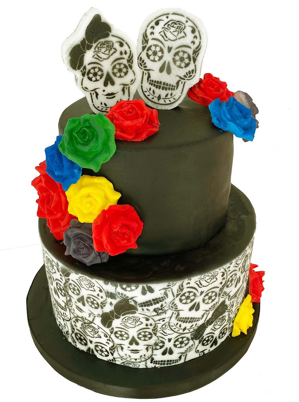 sugar skull birthday cake 2020