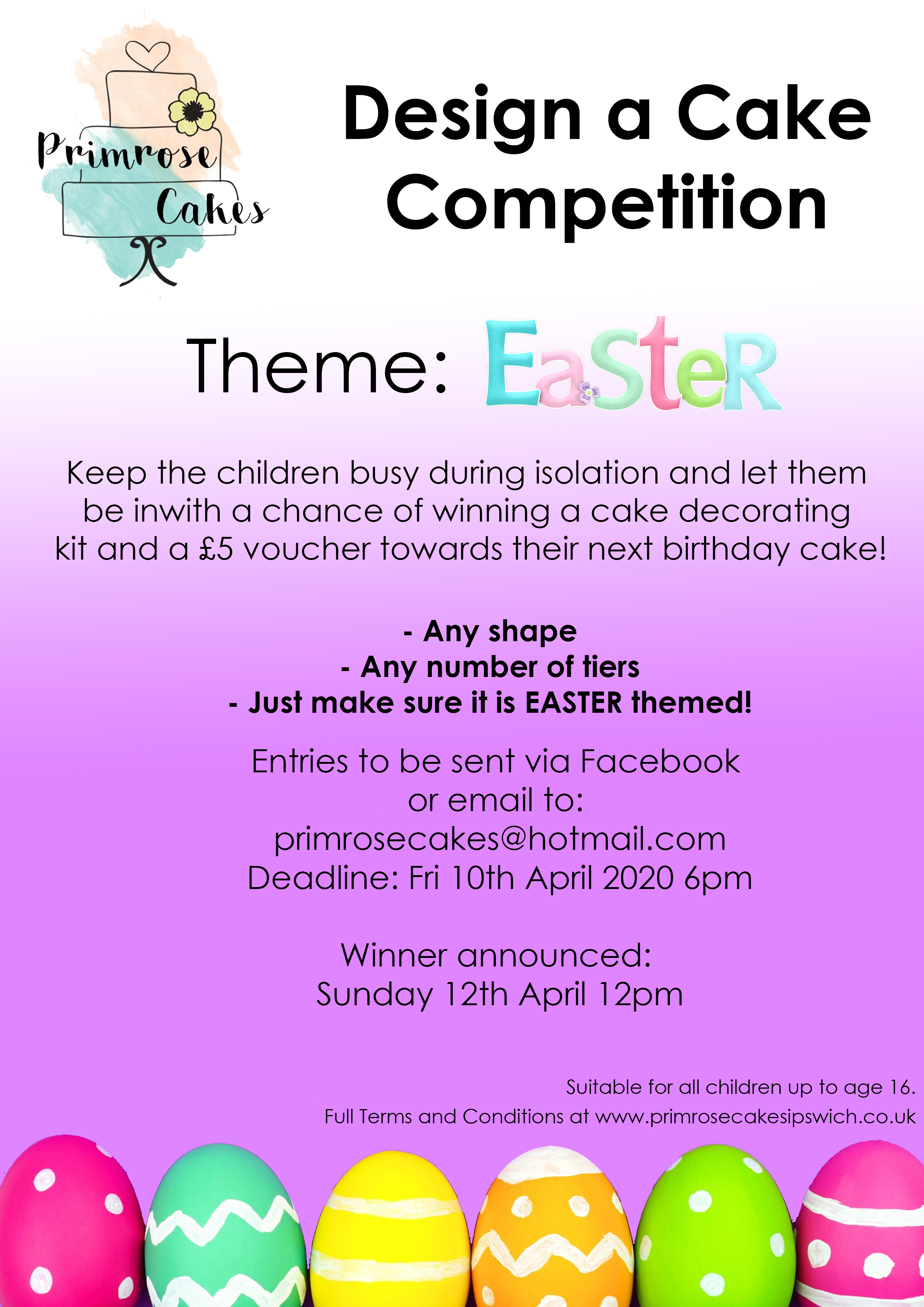 Design a cake competition EASTER