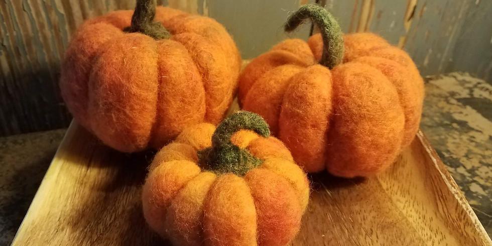 Needle Felt Pumpkins