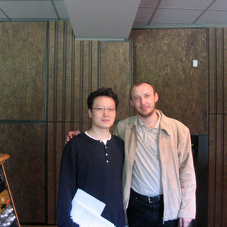 Shawn Choi with Conductor Stanislav