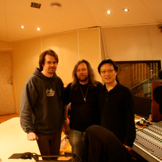 Shawn Choi with Engineers in CNSO studio