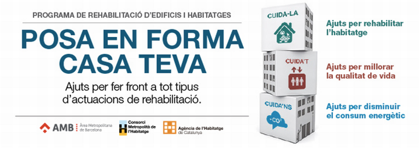 Area Metropolitana de Barcelona, Consorci Metropolità de l'Habitatge, subvenciones y ayudas a la rehabilitacion de edificios