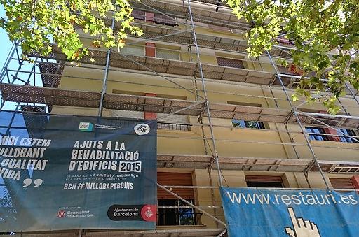 Rehabilitación de fachada con ayudas y subvenciones del Ajuntament de Barcelona