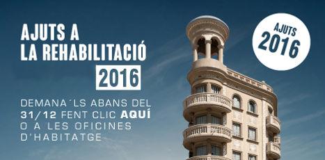 Subvencions i ajuts a la rehabilitació d'edificis, instal·lació d'ascensors, eficiència energètica