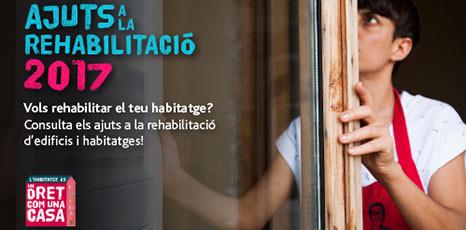 CONVOCATÒRIA D'AJUTS A LA REHABILITACIÓ 2017.