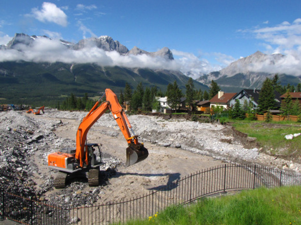 Diggers are working around the clock to rebuild our town. They are doing amazing work!