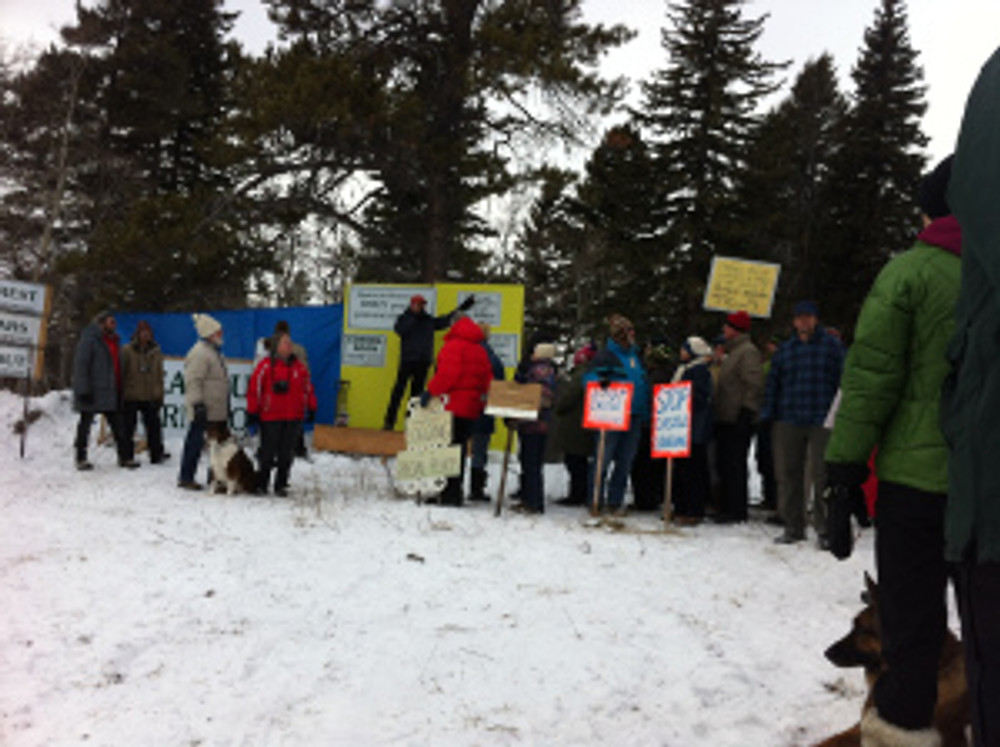 In my old job, part of what I did was take science and translate it into language that got people motivated to demand change. This is a protest to protect the Castle in Southern Alberta.