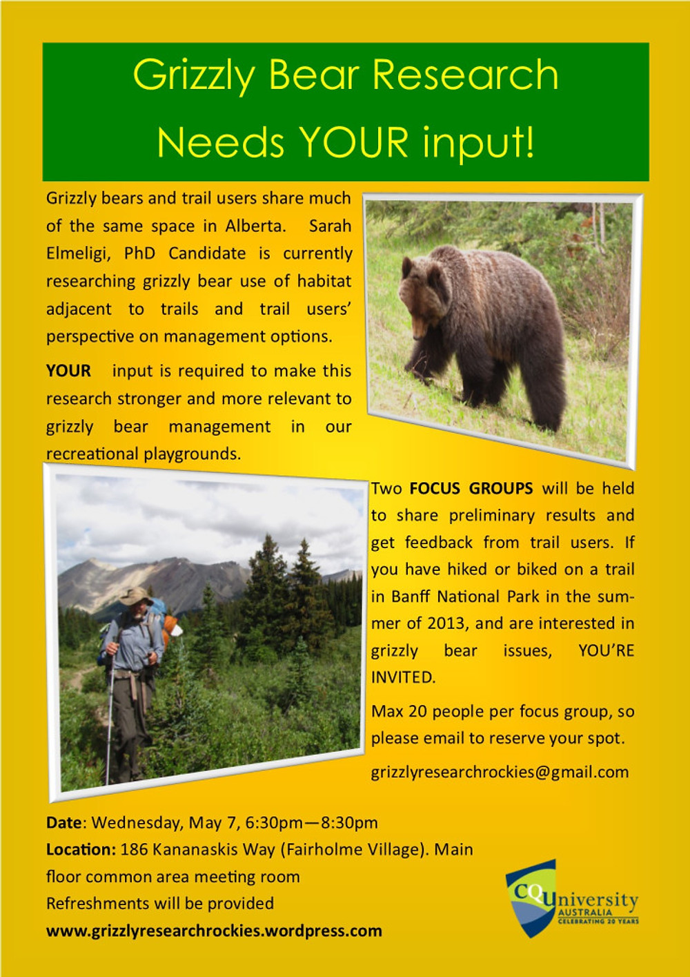 Details about the Canmore Focus Group