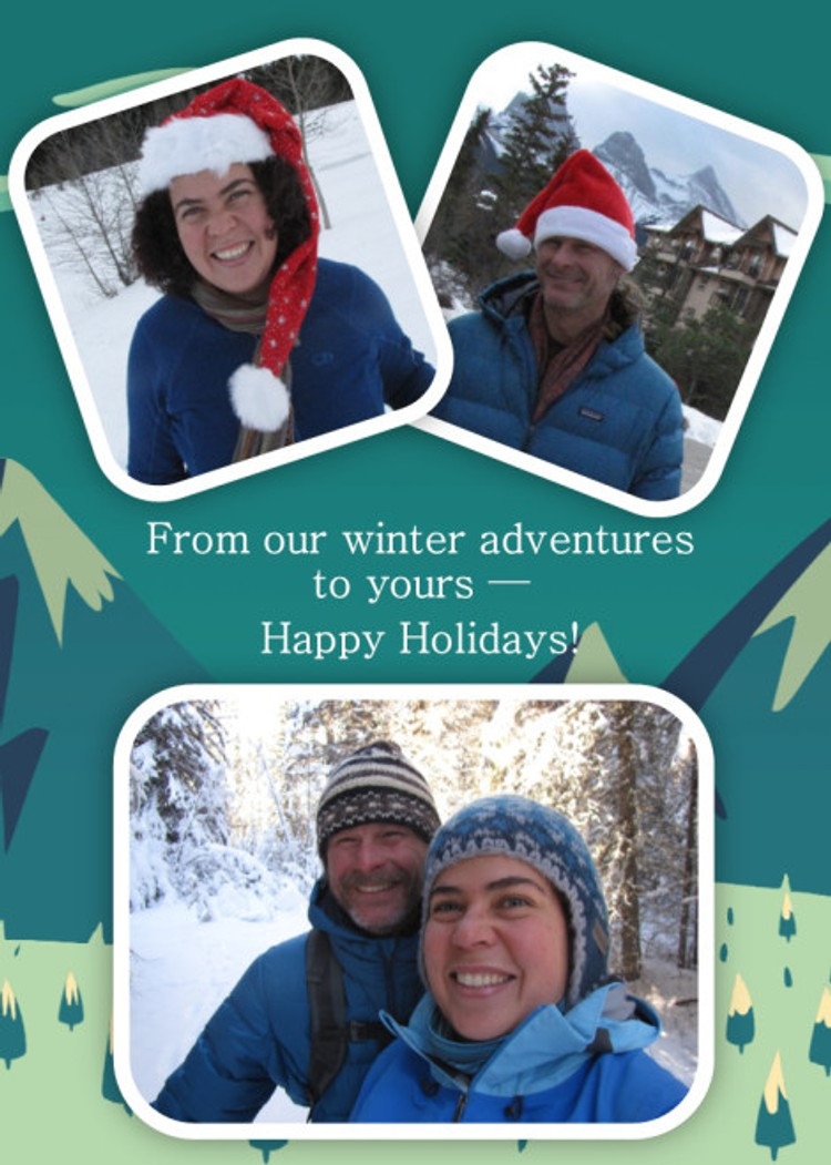 In the meantime, have a very happy holiday season from our home to yours!!