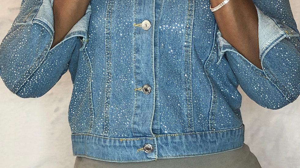 'Sparkle' denim jacket
