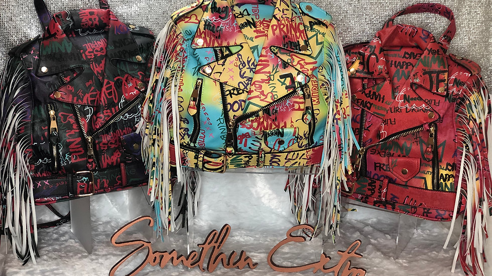 Graffiti Jacket Backpack