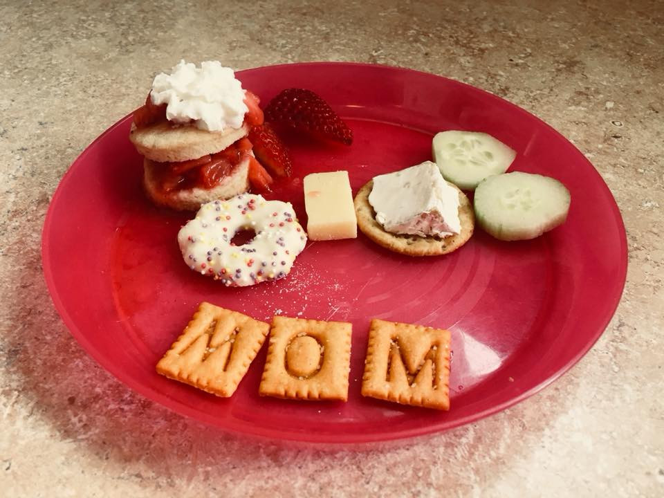 Mother's Day snack plate