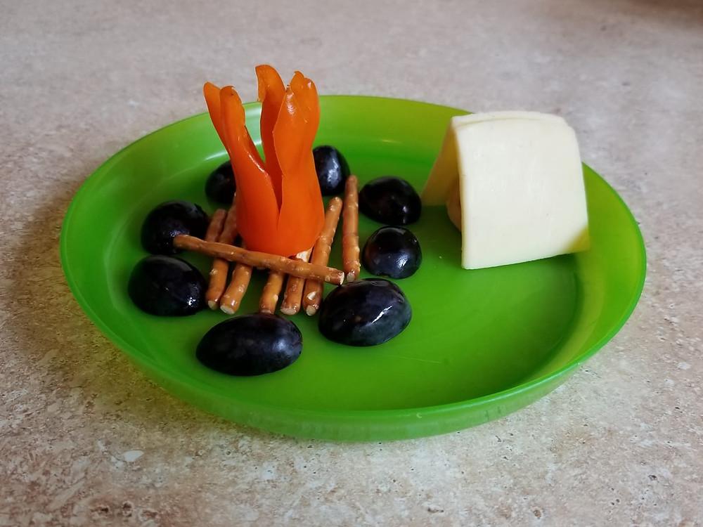 camp week snack plate