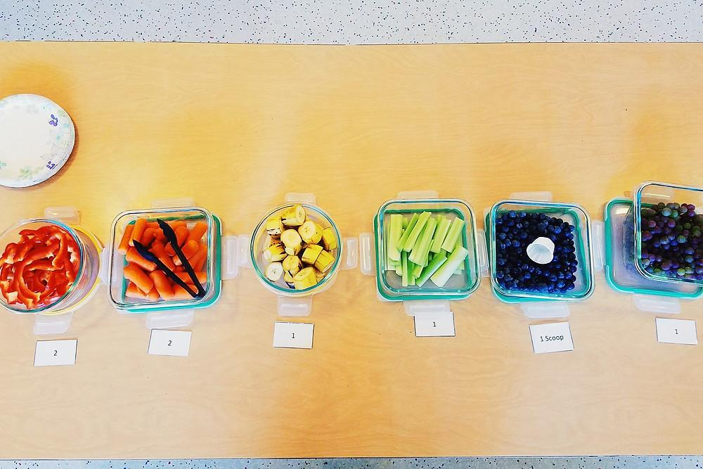 rainbow week snack plate