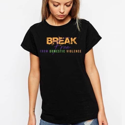 Break free from domestic violence t-shirt