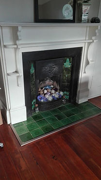 Repainted fire place