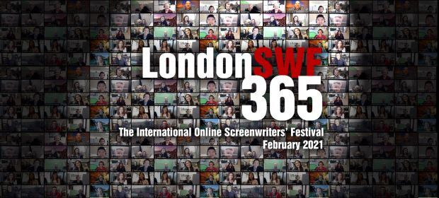 Promotional image for London SWF365 showing a montage of delegates attending sessions online