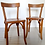 Thumbnail: Paire de chaises Baumann patinées