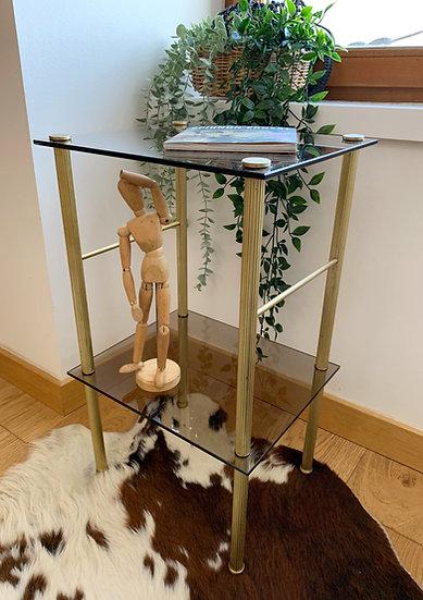 Bout de canapé/table d'appoint en verre