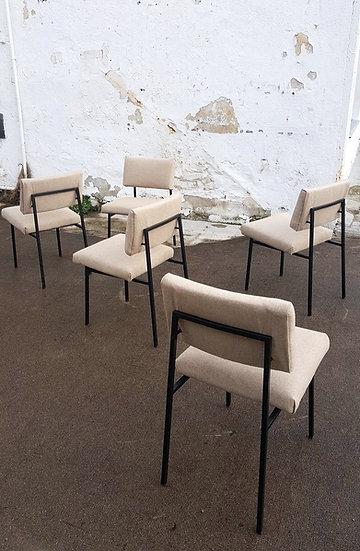 Suite de 5 chaises Gérard Guermonprez