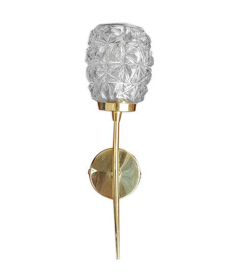 Applique vintage en verre et métal doré