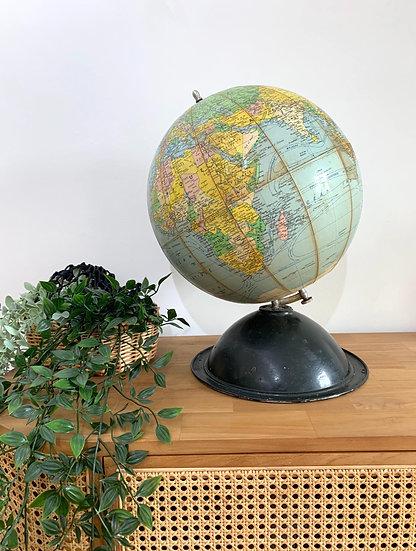 Globe terrestre 1950/60