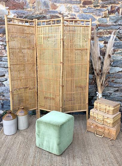 Paravent à lattes de bambou