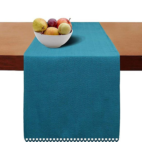 Cotton Clinic Herringbone Table Runner