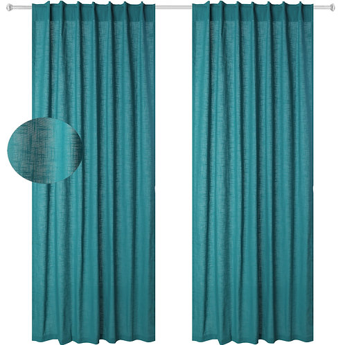 Cotton Clinic Slub Cotton Window Curtains 2 Panels
