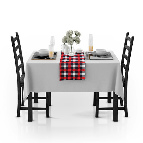 Cotton Clinic Gingham Check Table Runners - 2 Pack