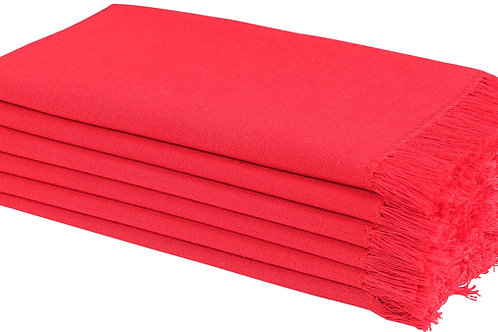 Cotton Clinic 20x20 Cloth Dinner Napkins with Fringes - Set of 6