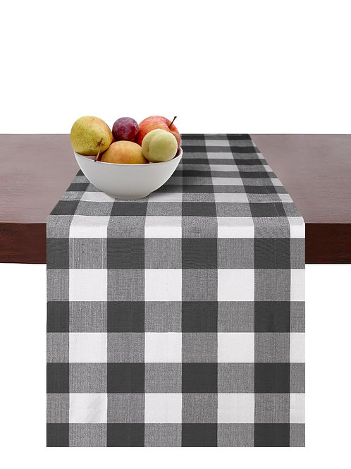 Cotton Clinic Gingham Check Table Runners 2 Pack