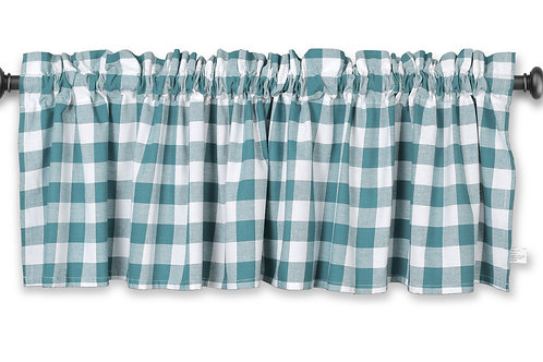 Cotton Clinic Buffalo Check 72x16 Window Valance Curtains - 2 Panels