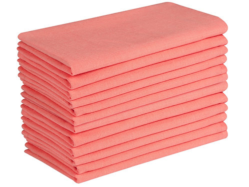 Cotton Clinic Everyday 17x17 Cloth Dinner Napkins - Set of 12
