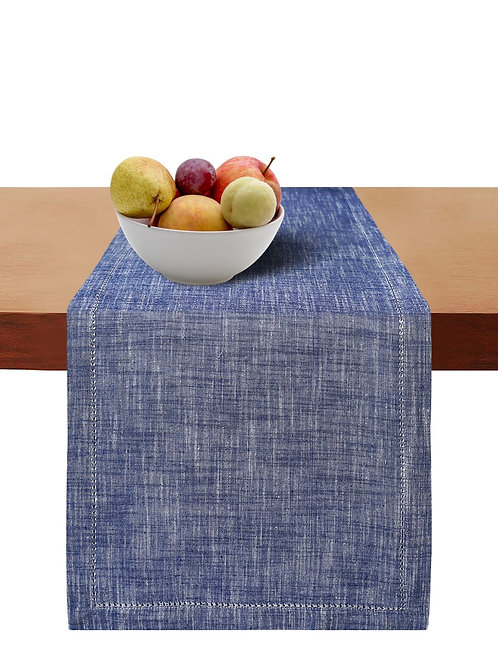 Cotton Clinic Slub Chambray Table Runner