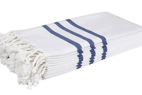 Cotton Clinic Turkish Peshtemal 18x28 Kitchen Towels - 6 Pack