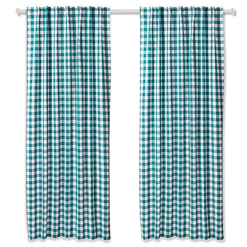Cotton Clinic Gingham Buffalo Check Curtains - 2 Panels