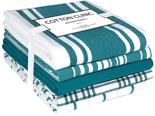 Cotton Clinic Amistar 16x28 Kitchen Dish Tea Towels - 5 Pack