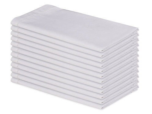Cotton Clinic Hemstitched 20x20 Cloth Dinner Napkins - 12 Pack