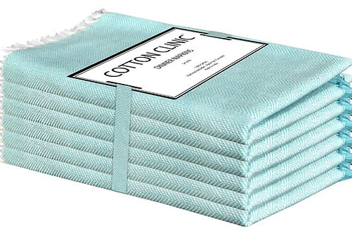 Cotton Clinic Twill Chambray 20x20 Dinner Napkins - Set of 6