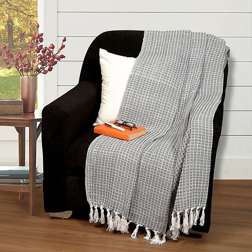 Cotton Clinic Waffle Throw Blanket 50x60