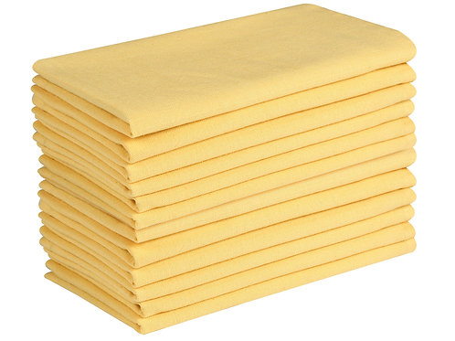 Cotton Clinic Solid 20x20 Cloth Dinner Napkins - Set of 12