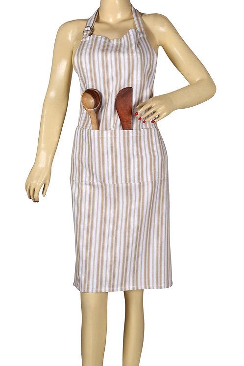 Cotton Clinic 32x28 Aprons Herringbone Stripe Set of 2