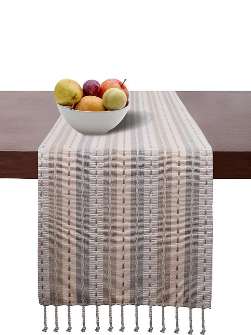 Cotton Clinic Salsa Stripe Table Runners - 2 Pack