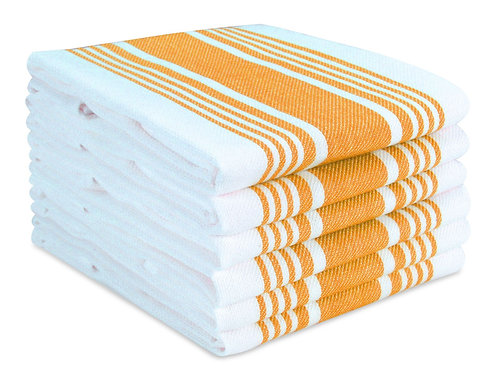 Cotton Clinic Big Stripe 16x26 Kitchen Dish Tea Towels - 6 Pack