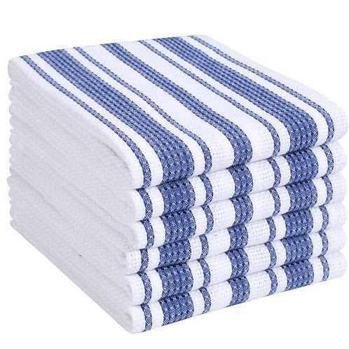 Cotton Clinic Waterworks 16x26 Kitchen Dish Tea Towels - 6 Pack